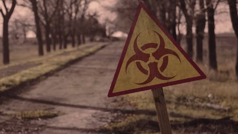 Biohazard sign Danger of infection. Warning sign.