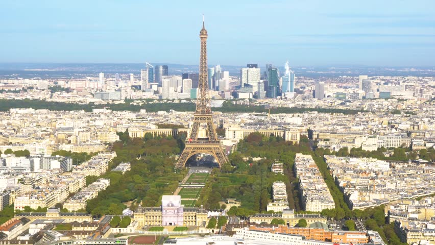 Eiffel Tower and Paris cityscape | Shutterstock HD Video #1012449140