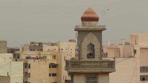 Cityscape Dakar with minaret, Senegal. Africa.