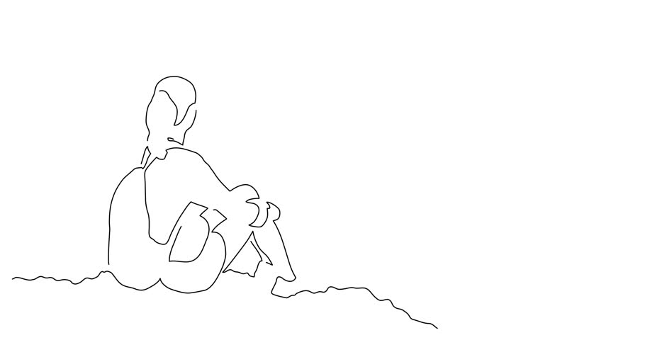 Mountaineer line drawing, vector illustration design. Outdoor sports collection. | Shutterstock HD Video #1012640660