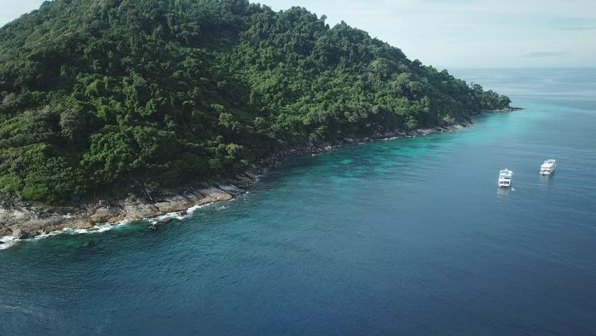 Koh Tachai Similan Island Thailand aerial footage  | Shutterstock HD Video #1012655840