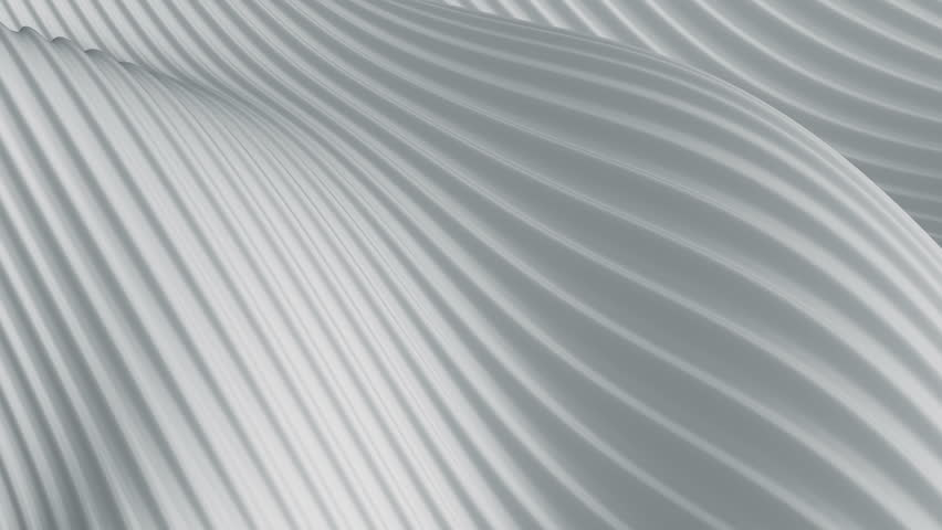 Abstract background with animation of light or dark waving surface with stripes. Animation of seamless loop. | Shutterstock HD Video #1012717970