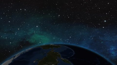 SAUDI ARABIA RIYADH ZOOM IN FROM SPACE