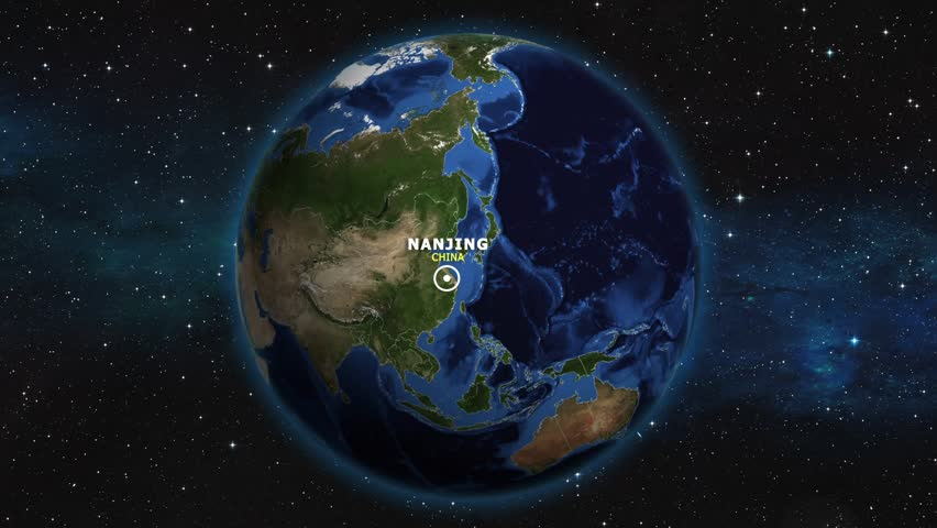 CHINA NANJING ZOOM IN FROM SPACE | Shutterstock HD Video #1012733420