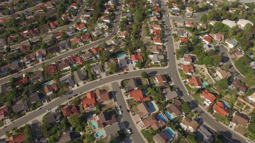 Looking Down on a sprawling neighborhood of endless houses