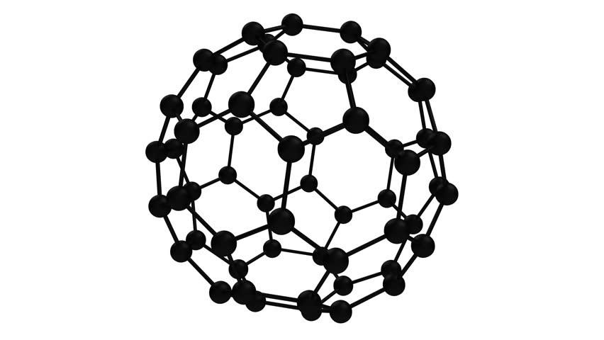 atomic football stock video footage 4k and hd video clips Beach Ball buckminsterfullerene c60 carbon molecule black with alpha channel looping 3d