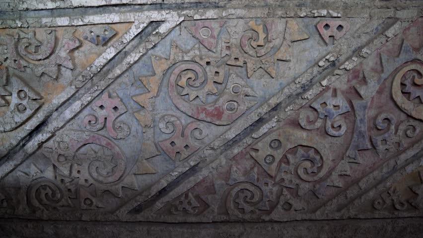 Bas-relief pattern in PERU, Huaca El Brujo (Moche culture)