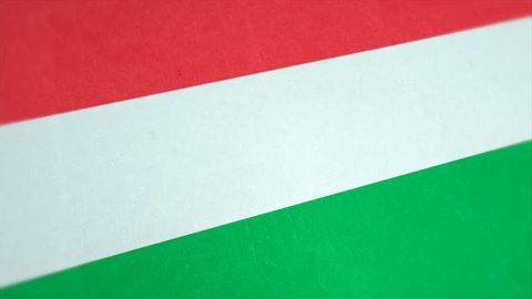 Stockfootage of National Flag of Hungary - Animated Hungarian Country Flag - Windy Flag Motion Background
