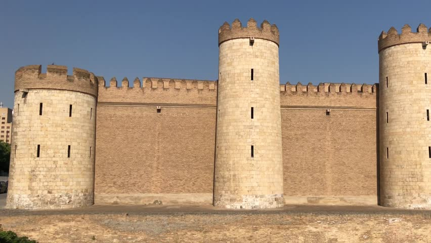 Palace of Aljafería  - World heritage   - fortified medieval Islamic palace, Zaragoza, Aragon, Spain