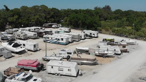 rv and boat storage lot