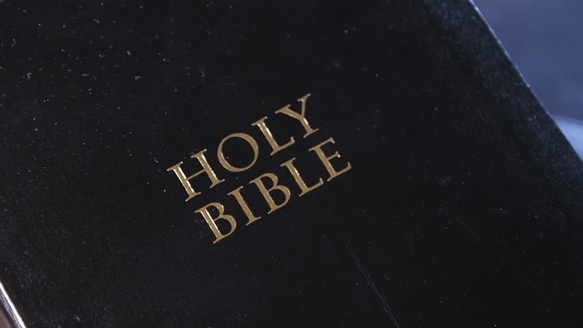 Black Bible Cover with Gold Embossed Holy Bible 03