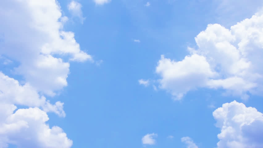 Blue sky and White cloud. clear blue sky with plain white cloud. 4k resolution #1013071220