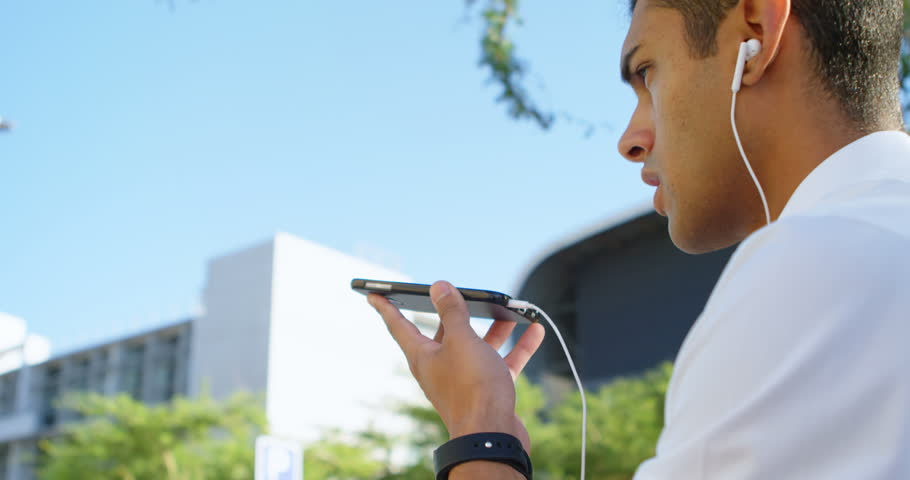 Close-up of man talking on mobile phone 4k | Shutterstock HD Video #1013084840