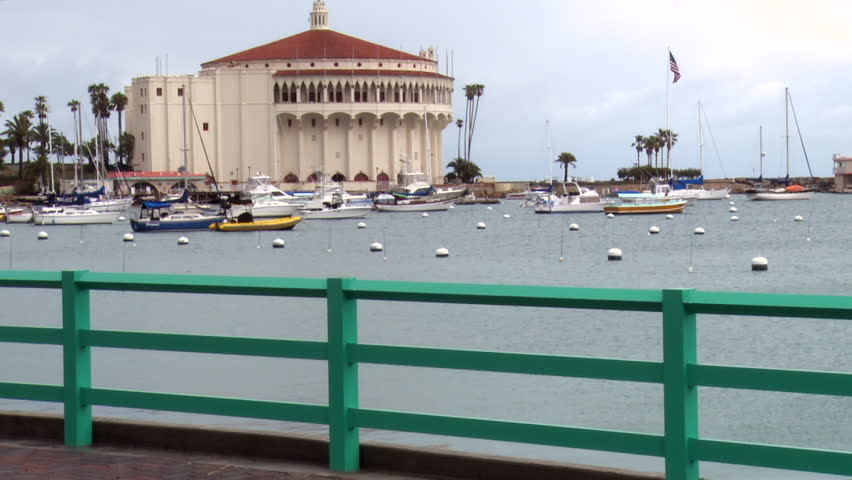 Pan Left to Right: Famous Catalina Casino View