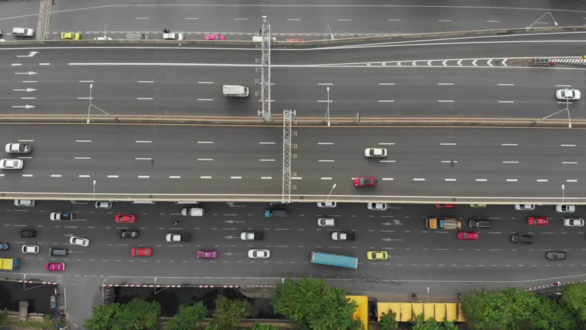 Top Down View of Traffic Stock Footage Video (100% Royalty-free) 1013272940    Shutterstock
