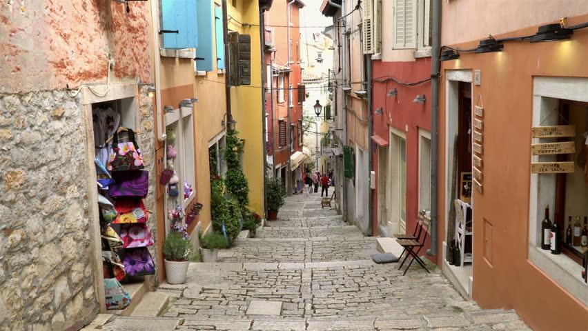 Summer, sunshine view of the Croatian old town-Istria region-Mediterranean sea-Europe.