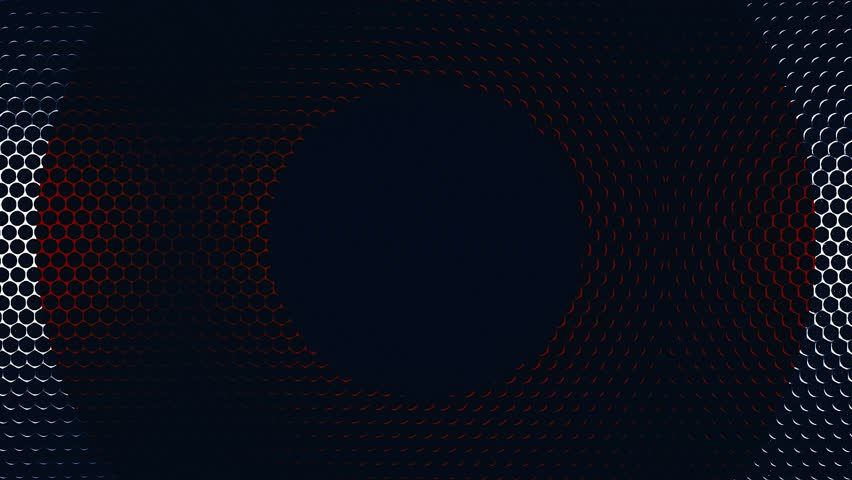 A metal mesh with colorful round holes like a rotating background. Colourful aluminium hole pattern texture. Colorful Metallic grid motion background.