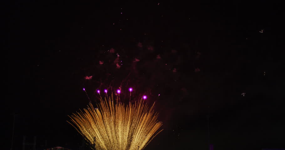 Colorful fireworks at night. | Shutterstock HD Video #1013349620