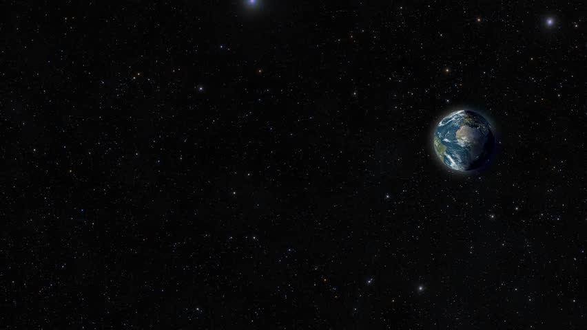 Earth from space with a small zoom.