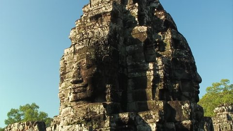 Carved Faces at Bayon Temple