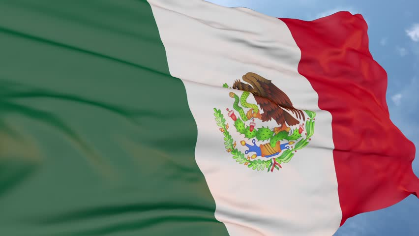 Flag of Mexico, logo of the state symbol | Shutterstock HD Video #1013407370