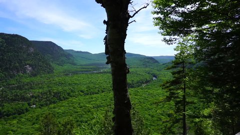 Beautiful view on Vallée Bras du Nord in Saint-Raymond, Qc