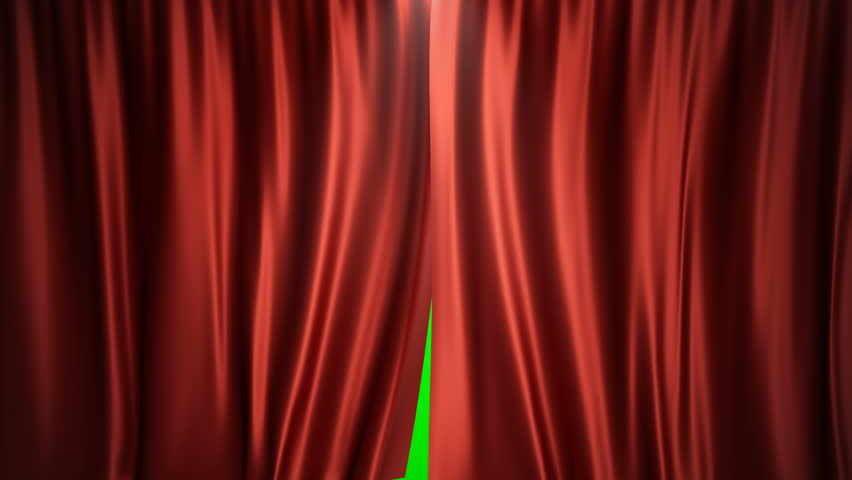 3D rendering animation open and close luxure red silk, curtain decoration design. Red Stage Curtain for theater or opera scene backdrop. Mock-up for your design project