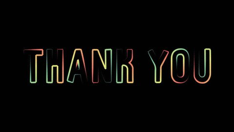 Thank you motion graphics animation revealer motion poster, banner text. Available in 4K FullHD and HD video render footage