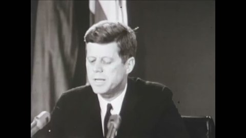 CIRCA 1962 - The US Air Force's quick mobilization is highlighted during a recap of the Cuban Missile Crisis (narrated in 1977).