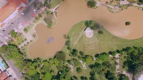 Bird eye view from a park in Aguas de Lindoia Brasil.