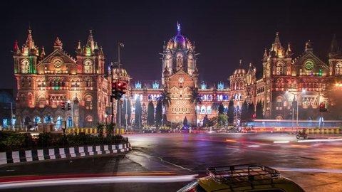 Night timelapse in Mumbai, India