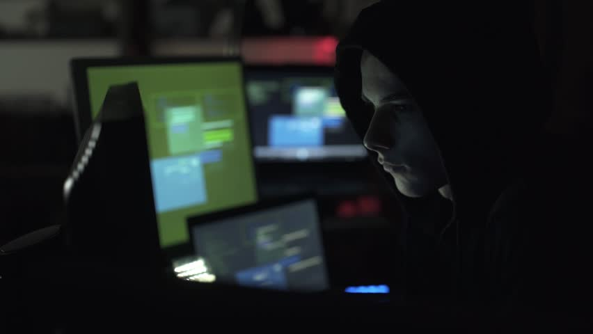 Black hat hacking a computer network, accessing data and stealing private information, cyber security and malware concept | Shutterstock HD Video #1013580530