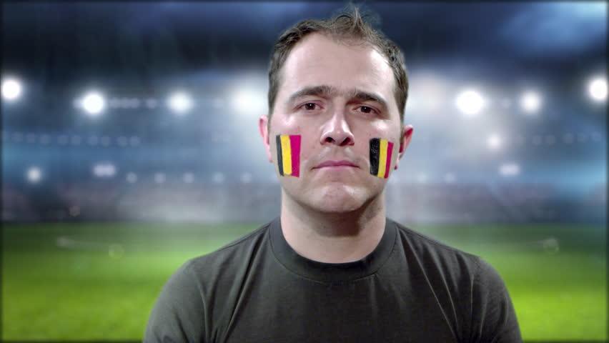 Belgium Fan Celebrating goal | Shutterstock HD Video #1013670350