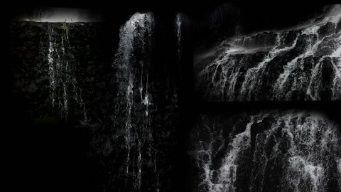 Waterfall Pouring water, Natural waterfall shot. Waterfall pack with different locations best for compose any waterfall you want. Causing distortion and blur.