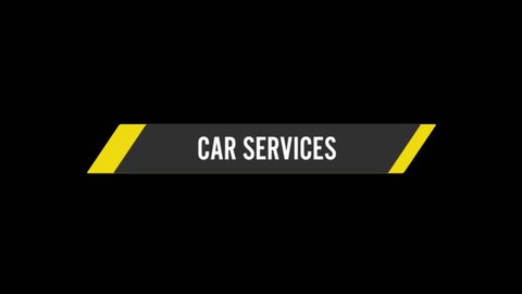 Cars Details icons animation with black png background.Car Service icon animation with black png background.