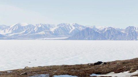 Beautiful landscape of Pond Inlet, Nunavut