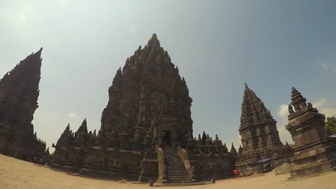 Time Lapse of the Prambanan hindu temple in Java Indonesia