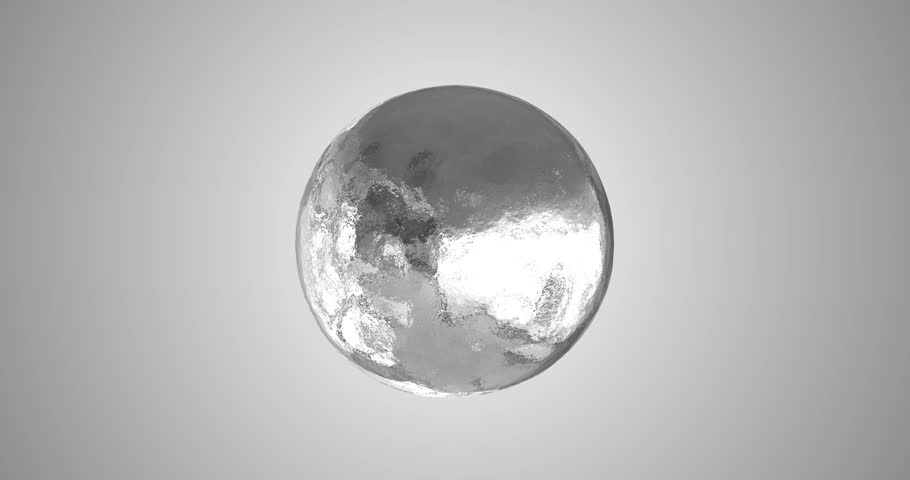 Silver Aluminium Sphere Morphing into Foil Seamless Loop 4k Animation Video.