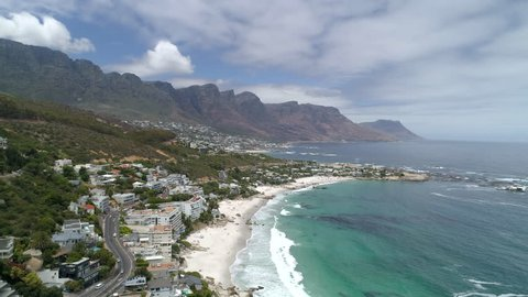 Reveal of Clifton and Bantry Bay in Clifton Aerial View