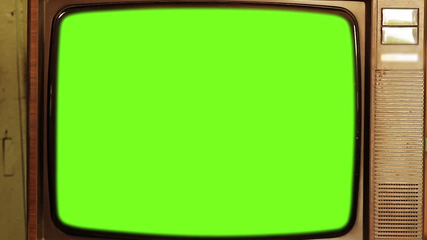 80s Television with Green Screen. Zoom Out.  | Shutterstock HD Video #1013886860