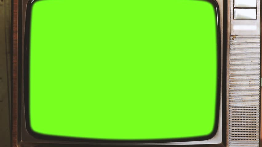 80s Television with Green Screen. 60s Tone. Zoom Out. | Shutterstock HD Video #1013886920