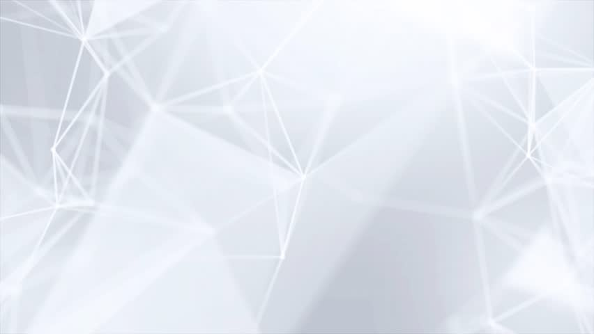 Clean White Abstract polygonal Digital Concept Geometrical Polygon Plexus Fractals Moving low poly Technologies Minimalist design element Seamless loop background for corporate business presentation | Shutterstock HD Video #1013908580