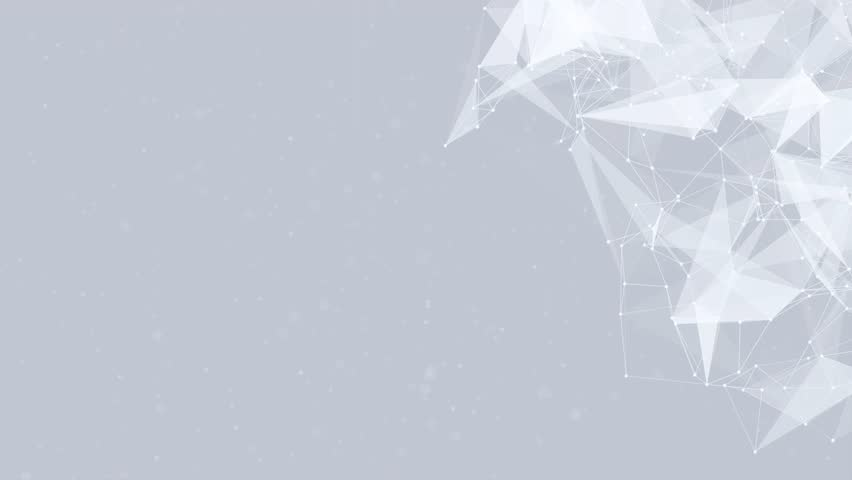 Clean White Abstract polygonal Digital Concept Geometrical Polygon Plexus Fractals Moving low poly Technologies Minimalist design element Seamless loop background for corporate business presentation | Shutterstock HD Video #1013908610