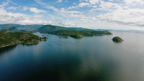 Lower Sunshine Coast BC Canada - Lee Bay, Fisher Island - Aerial View