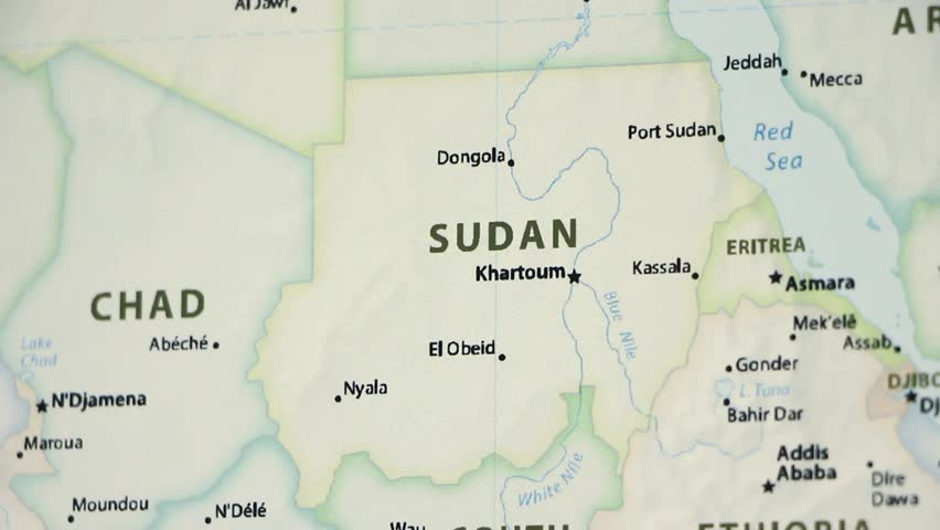 Political Map Of Sudan.Sudan On A Political Map Stock Footage Video 100 Royalty Free