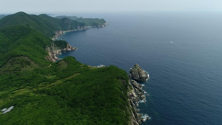 landscape of Fukue island at Nagasaki in Japan