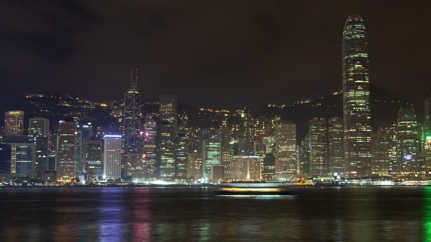Hong Kong Night Cityscape Time lapse | Shutterstock HD Video #1014123830