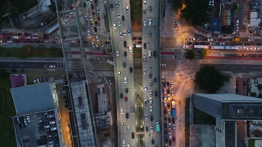 Sao Paulo Brazil Octavio Frias de Oliveira Bridge | Shutterstock HD Video #1014234980