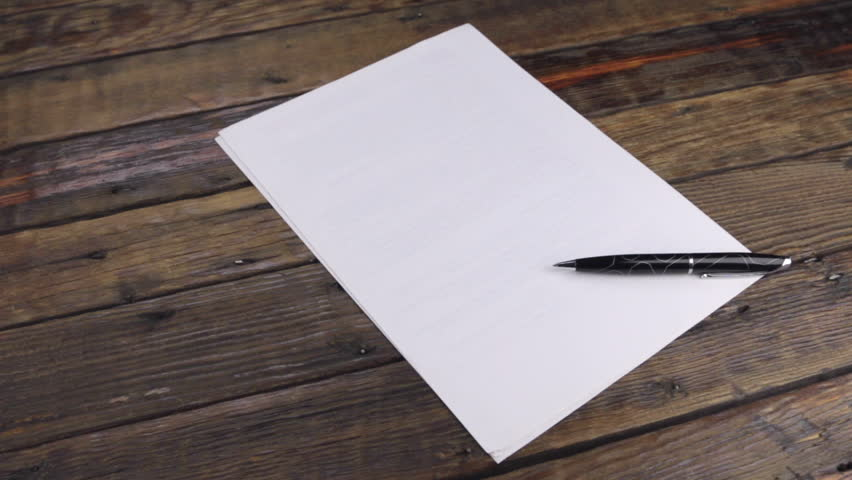 Slider motion, a pen lying on a blank sheet, with a place for your text. | Shutterstock HD Video #1014265910