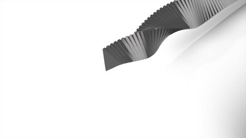Abstract grey geometric shapes on white background. Abstract White Background Random Motion, 3d Loopable Animation.